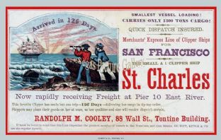 Clipper Ship - St Charles (Advert)